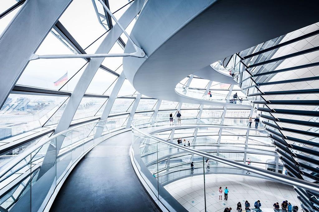 Cúpula interior del Reichstag