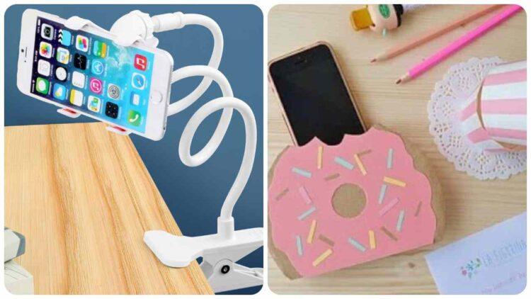 Cómo hacer un soporte para teléfono inteligente en forma de rosquilla