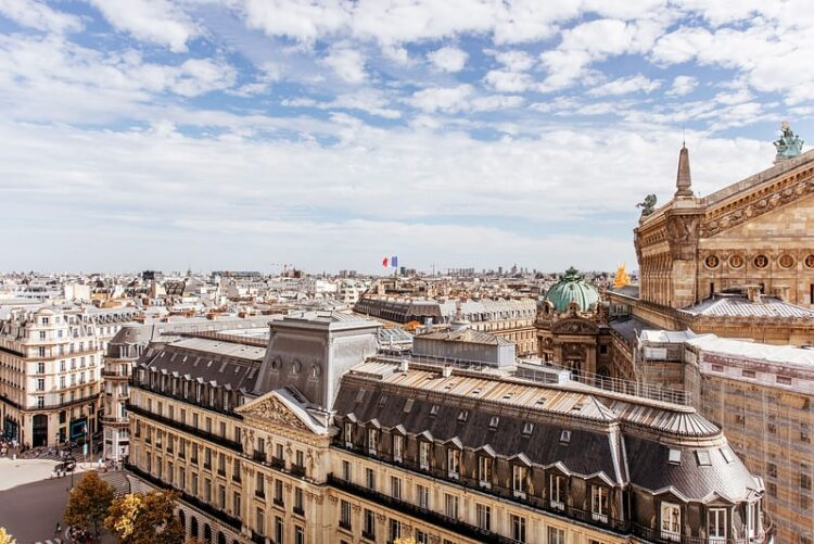 tejados París galerías lafayette
