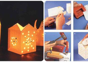 Portalámparas de cartón, como hacerlos gracias al bricolaje