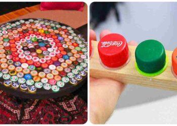 Tapas de botellas, nuevas y divertidas formas de reciclarlas