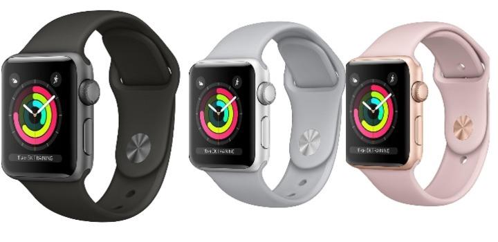 Reloj para actividades Apple Watch Series 3 con GPS y pantalla táctil